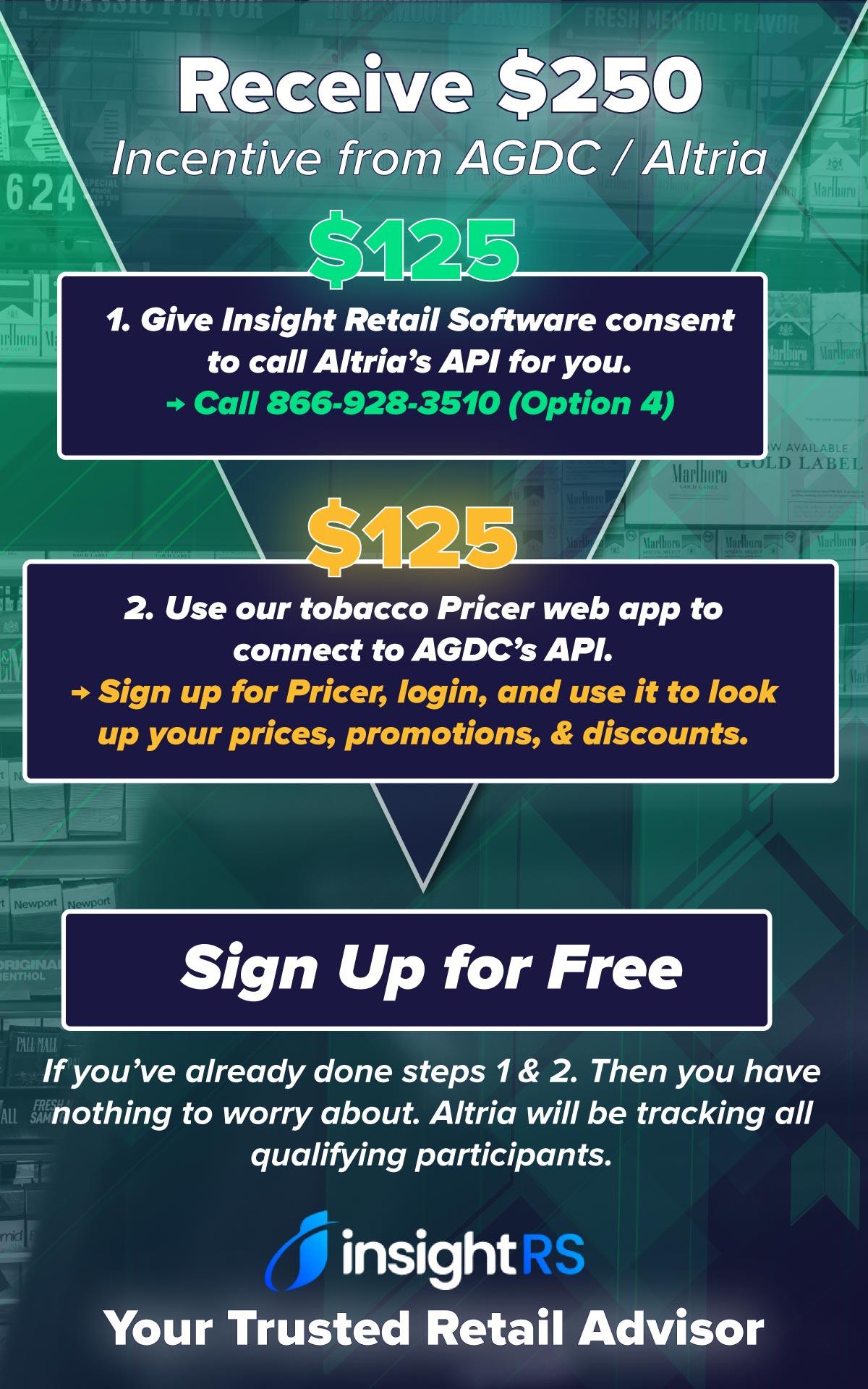 AGDC API Incentive